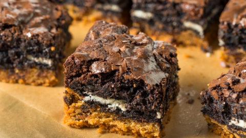 Receita de brownie de biscoito